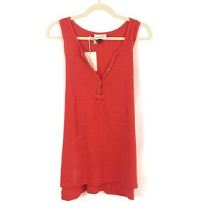 Universal Thread™ Plus Size Henley Tank Orange